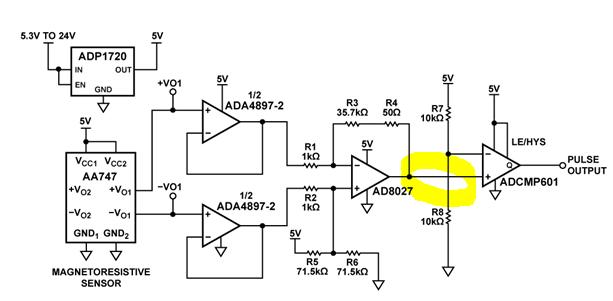 wheel speed sensor output conditioning
