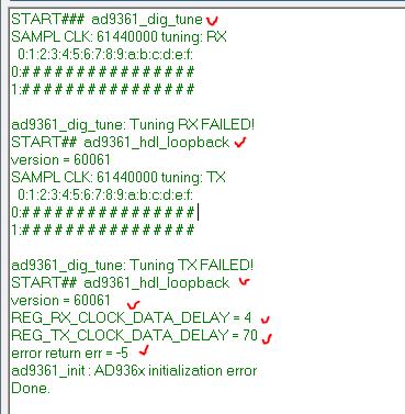 ad9361_dig_tune both TX RX tune failed - Q&A - FPGA