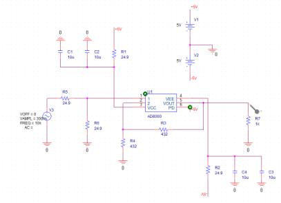 ad8000 spice simulation problem - Q&A - Amplifiers