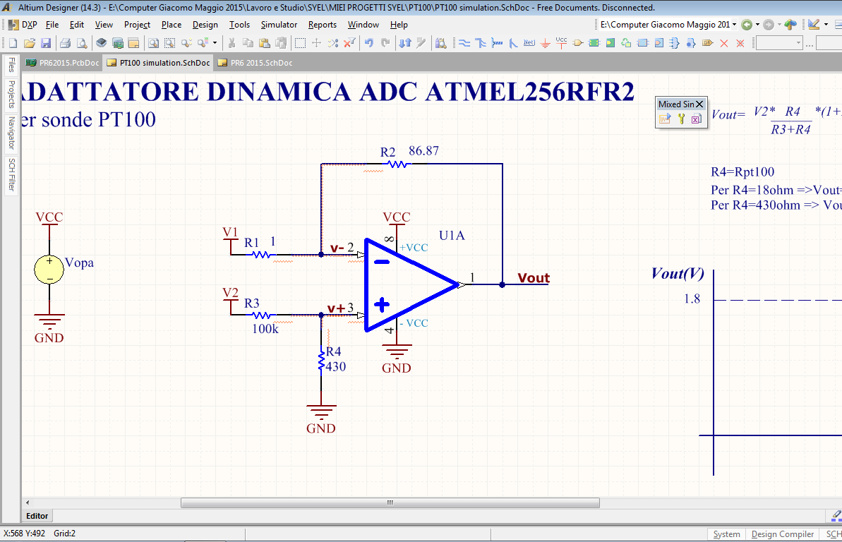 How to simulate V(R) in Altium Designer - Q&A - Amplifiers