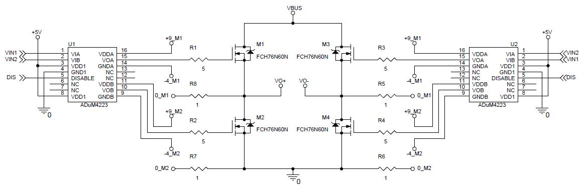 adum4223 as h bridge driver strange behavior q a interface and rh ez analog com
