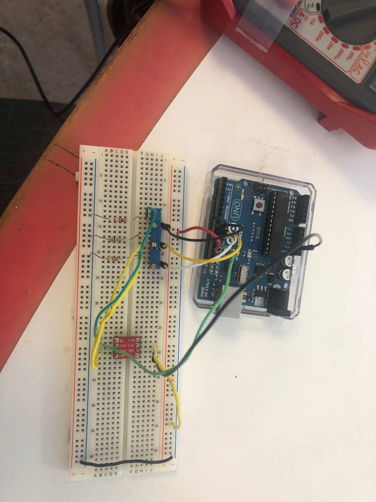 ADXL362 and Arduino Uno giving zero output for acceleration and temp