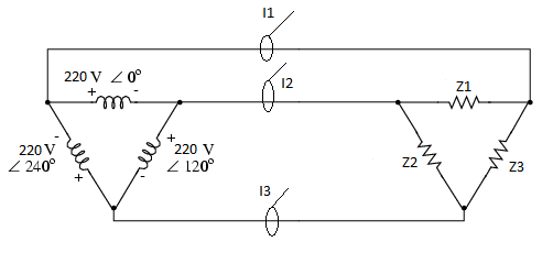 i2 phase diagram measures with 3 wire delta and unbalanced system with ade7758  measures with 3 wire delta and
