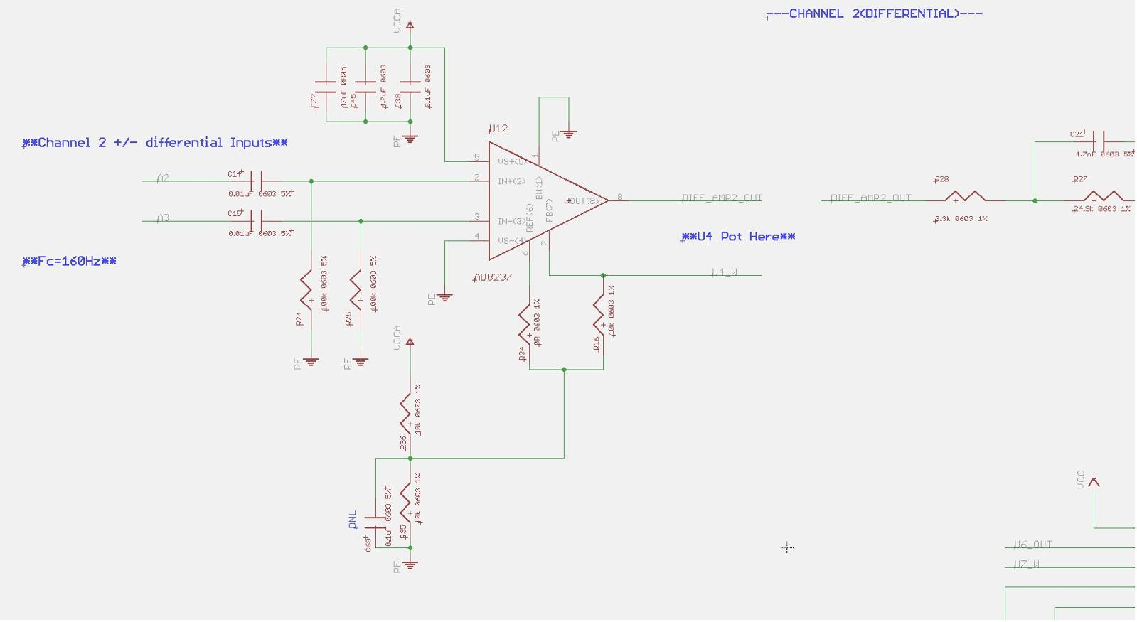 Ad8237 Oscillating When Input Voltage Or Freq Increases Qa Circuit Divider Calculator The Entire System Including 8237 Is Powered By Vcc33v Reference Set To 05vcc With A 10k Resistor Drives Another Stage That