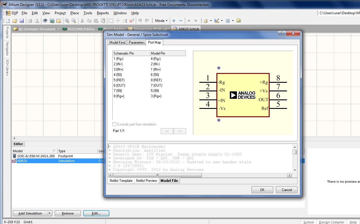 AD623 SPICE MODEL PROPLEM - Q&A - Instrumentation Amplifiers