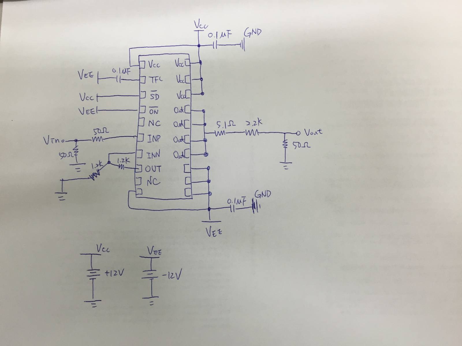Ada4870 Non Functional Operating Qa Operational Amplifiers Sine Wave Generator Circuit Group Picture Image By Tag The Problem Is That Output Signal Maintained Zero After Switching On Power Supply