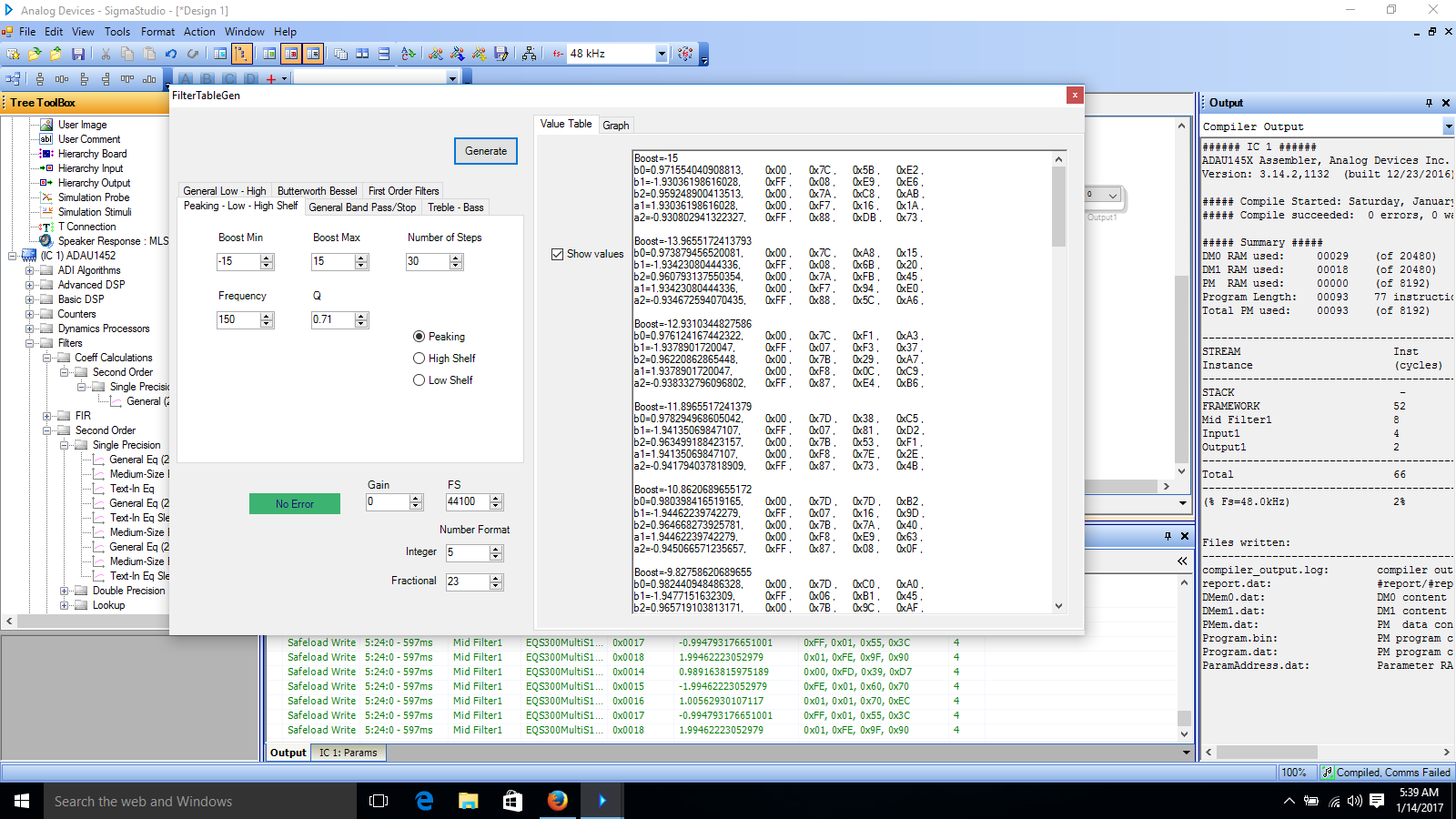 Controlling the ADAU1701 using a microcontroller