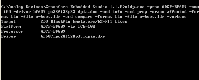 BF609 uboot bf609_pc28f128p33_dpia dxe - Q&A - Linux