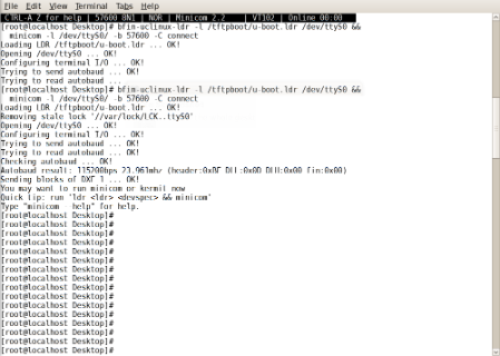 problem ploading uboot to bf609 - Q&A - Linux Distribution