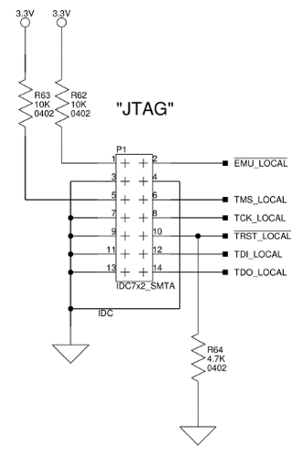 JTAG pinout for using Altera UsbBlaster on BF609 EZ-BOARD
