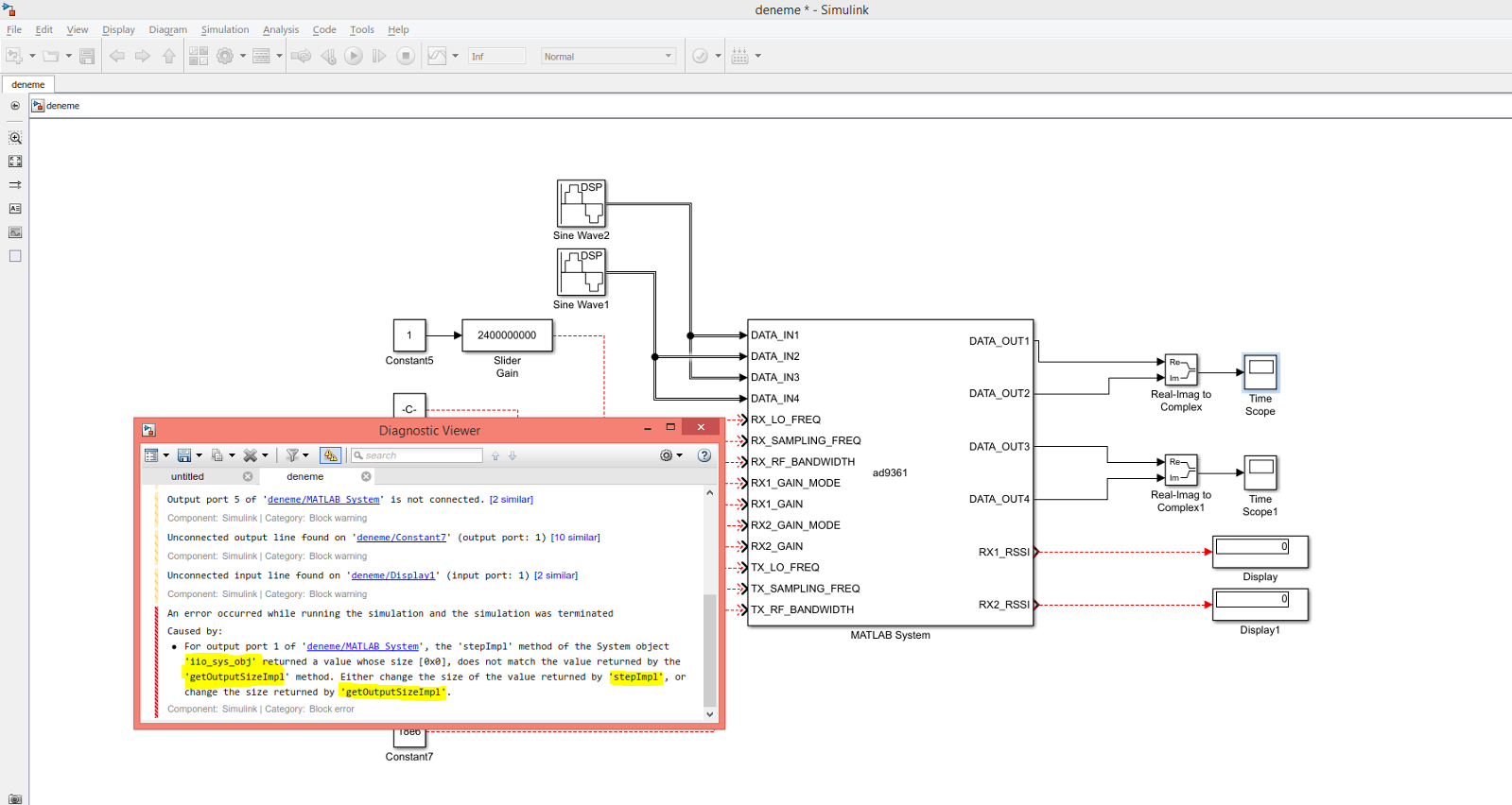 Stream data into/out of MATLAB Simulink Example - Q&A