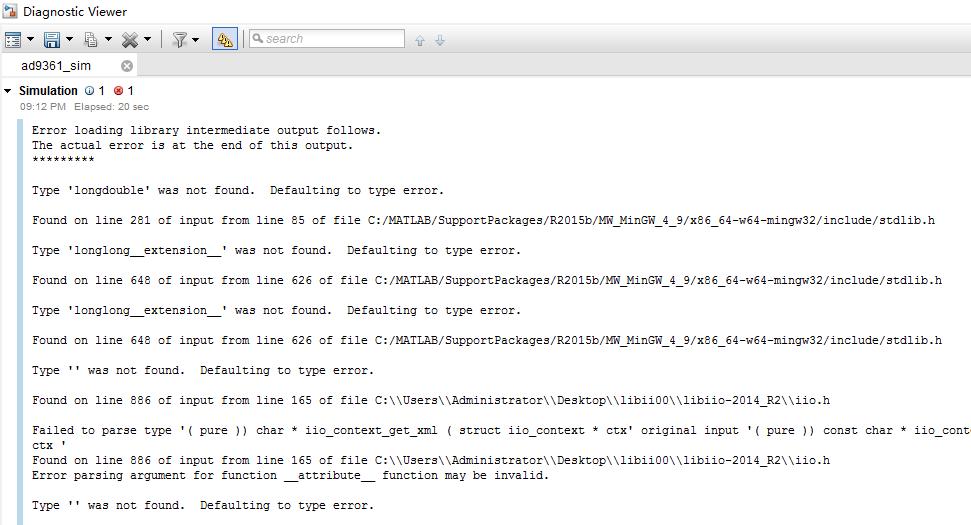 When I run the ad9361_sim slx,an error occurred - Q&A