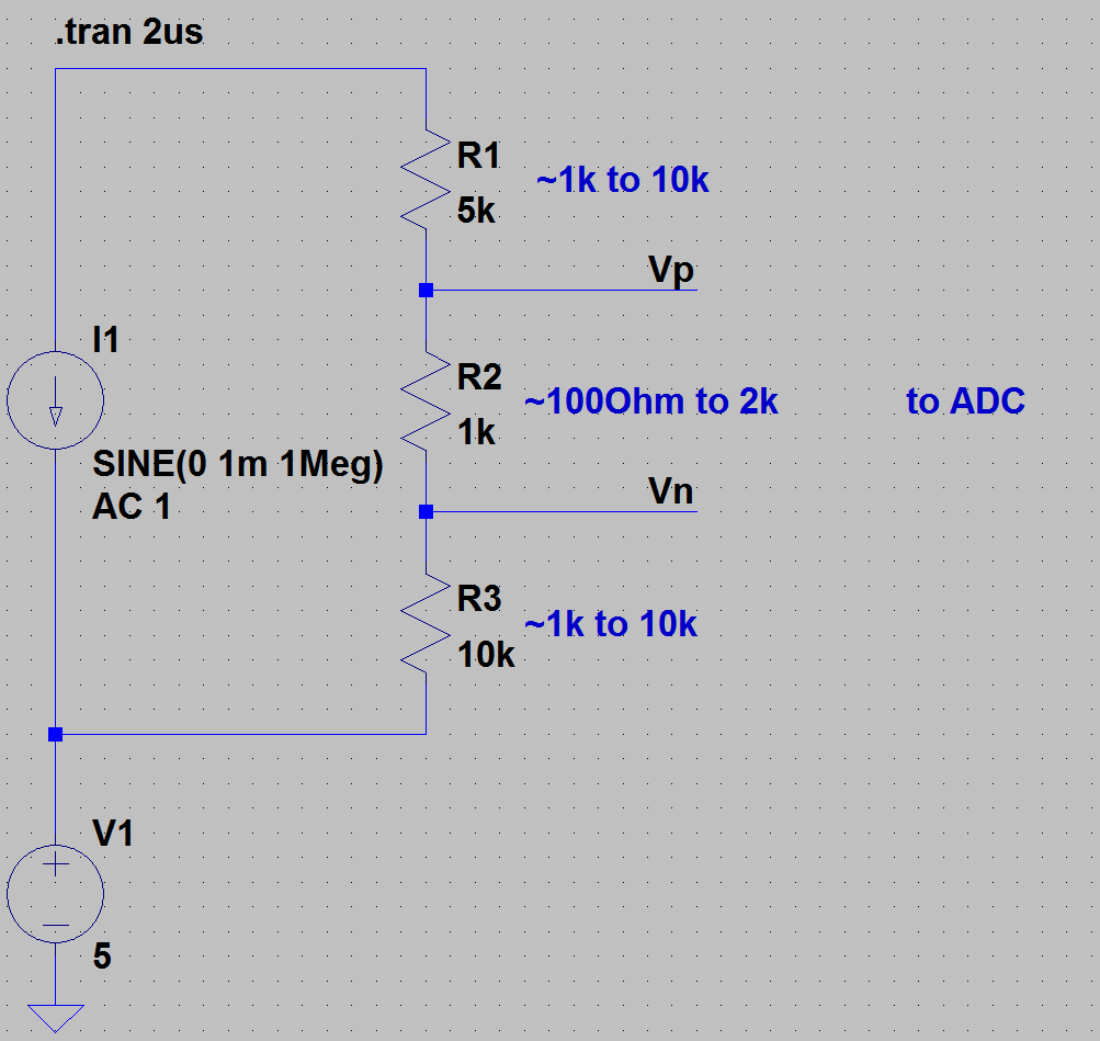Design a precision ADC front end for measuring small signals with