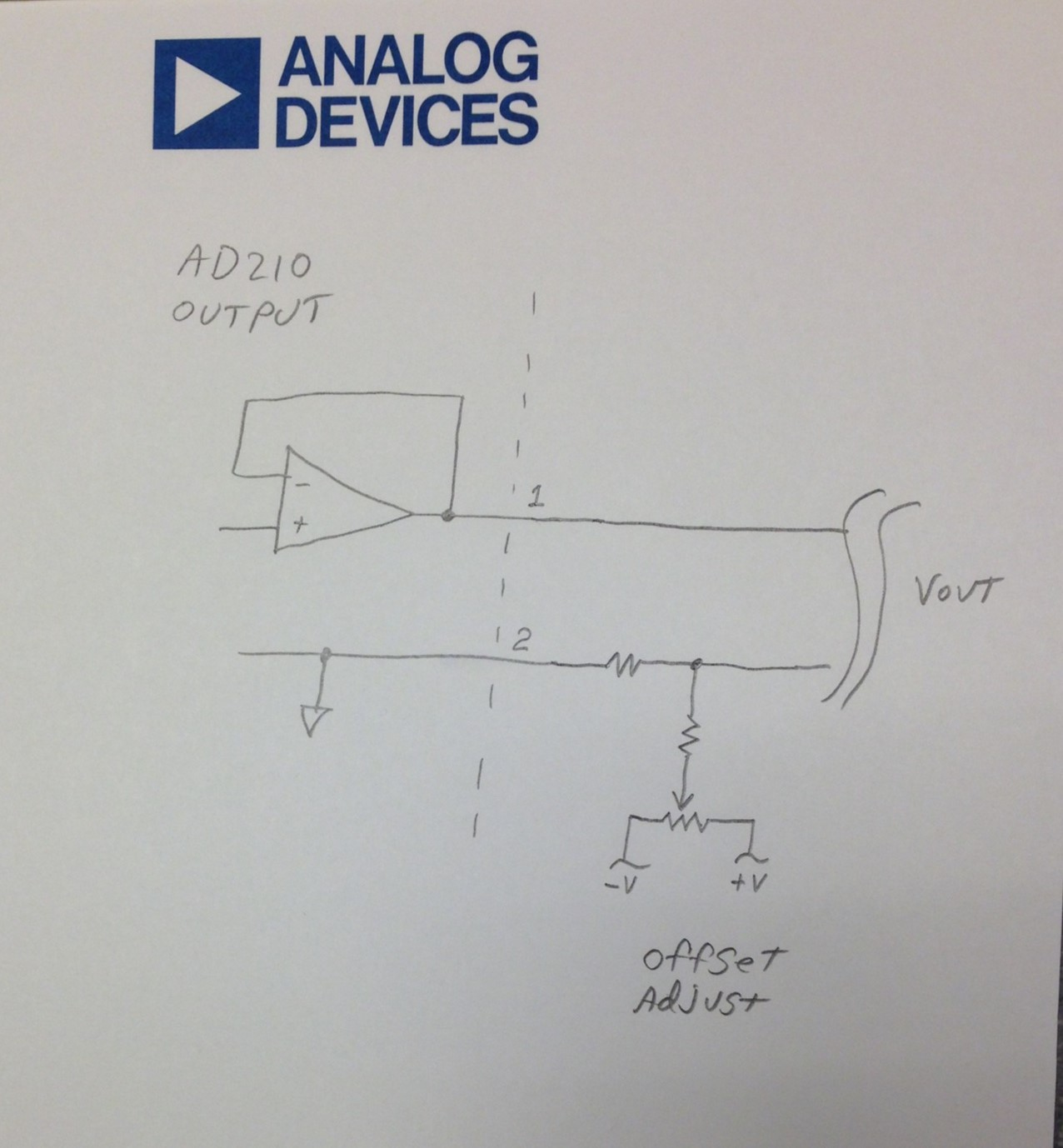 Ad210 Output Adjustment Circuit Documents Amplifiers Engineerzone Ac Coupling And Offset Voltage In Amplifier A