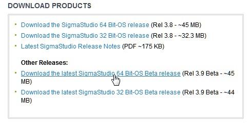 New SigmaStudio Download Site - Documents - SigmaDSP