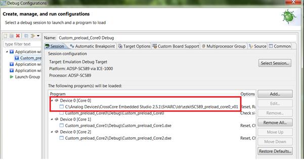 FAQ: Preload code customization - Documents - ADSP-SC5xx