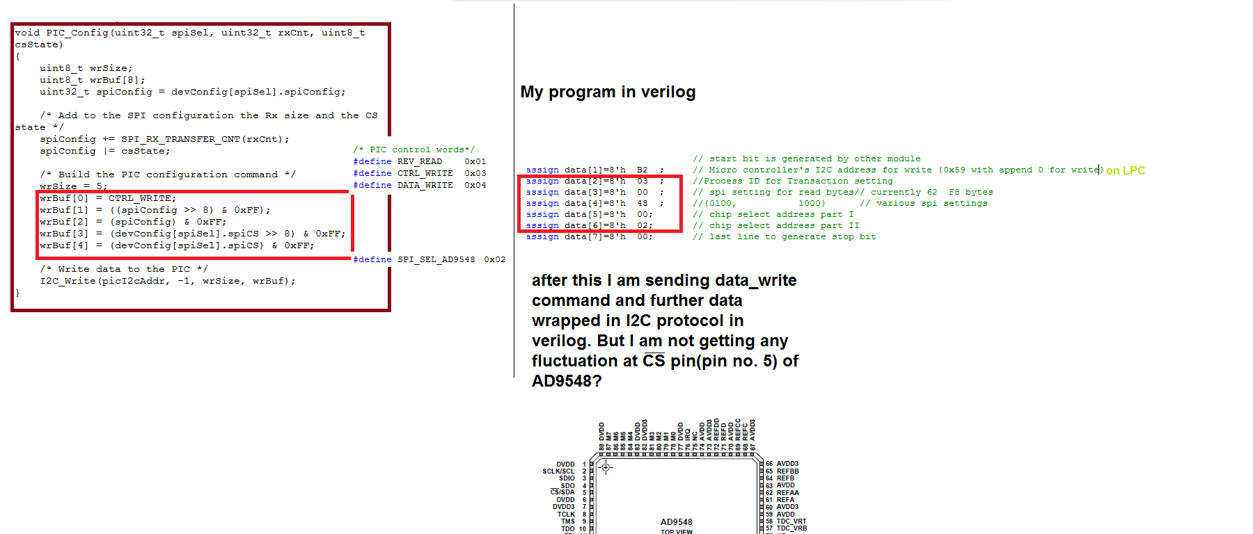 PIC's I2C to SPI conversion in AD-FMCOMMS1-EBZ - Q&A - FPGA