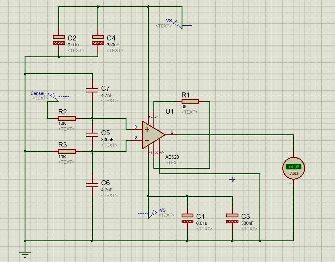 How Can I Make The Circuit Analysis And Simulation For Ad620 Rfi A Parallel Lpf