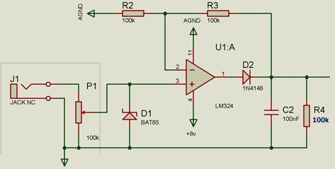 I need to build peak detector circuits for electronic drum pads that