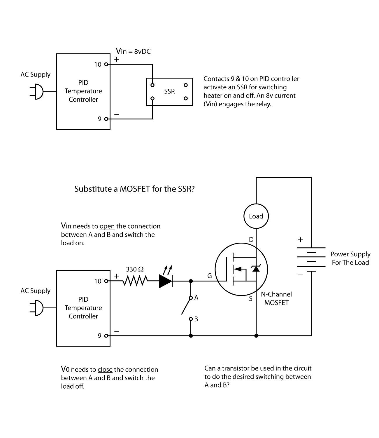 Help With Transistor For Switching Mosfet Qa Temperature Circuit Diagram Using Switchingmosfetstates