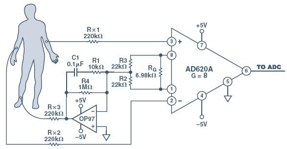 Outstanding Ecg Circuit Using Ad620 Basic Electronics Wiring Diagram Wiring 101 Ivorowellnesstrialsorg