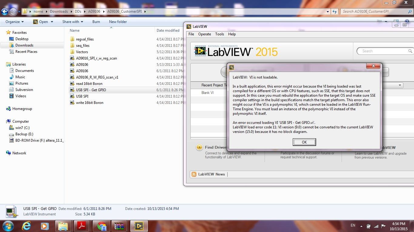 Ad9106 Evaluation Kit Labview Source Code Qa High Speed Dacs Windows 7 Block Diagram Error 1