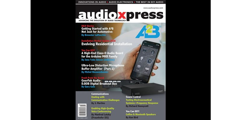 Part 1 of an A2B article series authored by Clockworks in AudioXpress magazine October issue