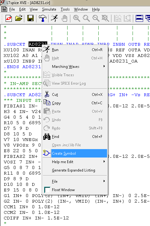 Symbol file(AD8611 asy) for LTSpice - Q&A - Amplifiers