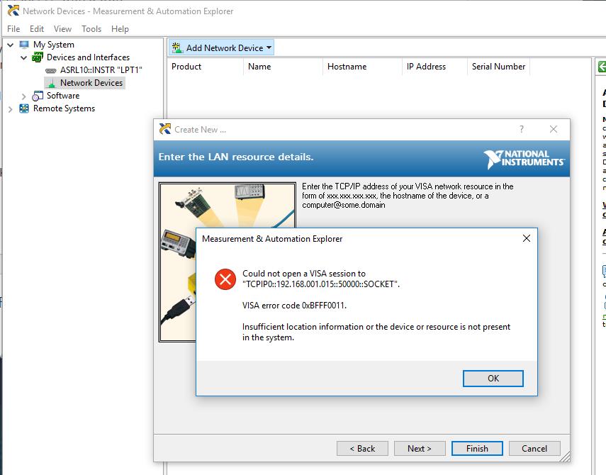 Configure HMC T2220 via Ni-VISA etheret - Q&A - Clock and