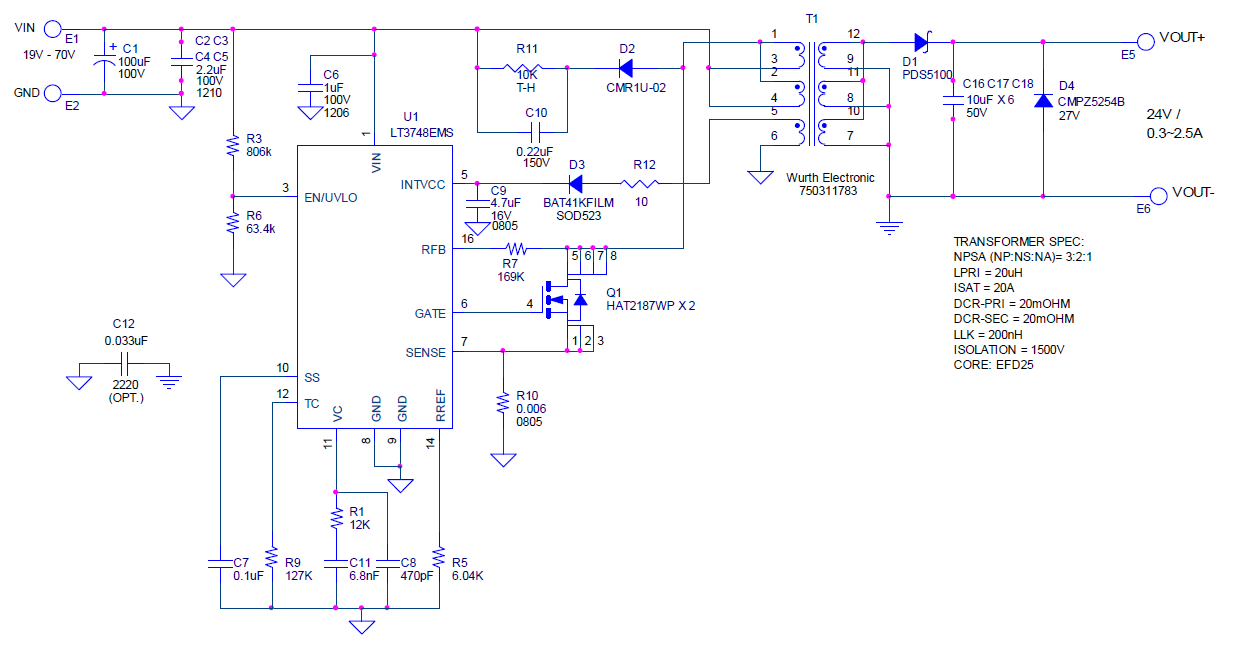 isolation circuit for 24v and 3a dc q a power by linear rh ez analog com