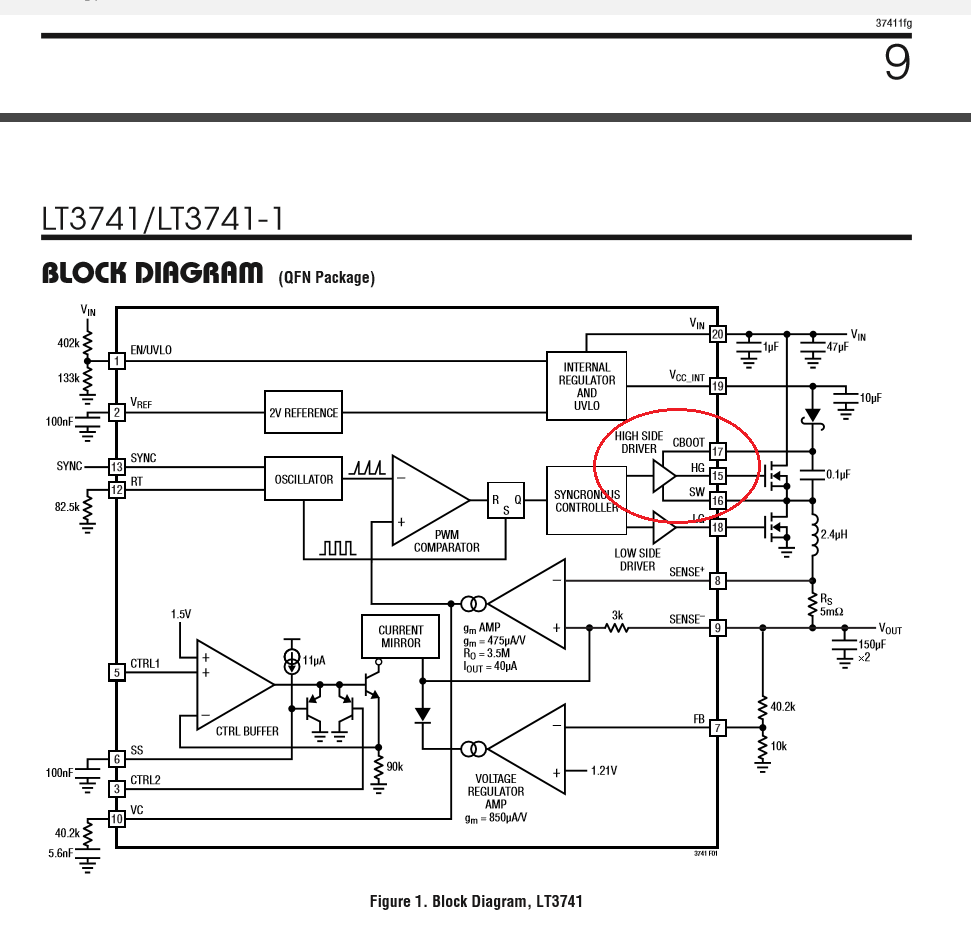 Lt3741 I Am Having Issues With Teh Sw Pin On The Chip Failing Low Circuit Schematics Electronic Telephone Ringer A Oscilloscope Are You Sure That Only Is Shorted Failed Boards And Something Else Connected To Node Like Fet Does Not