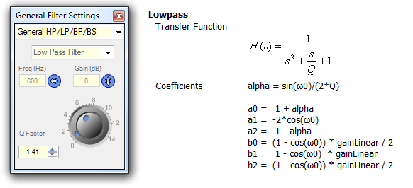 Calculate Coefficients of Chebyshev and Notch-Filters - Q&A