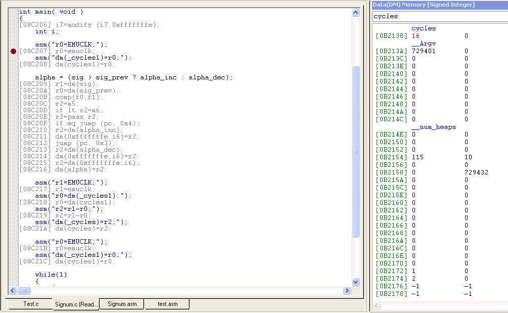 Floating point signum in SHARC using C - Q&A - SHARC