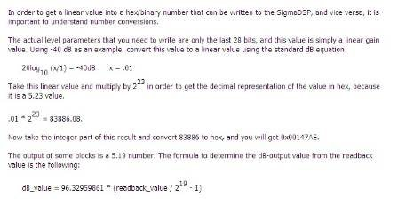 How can the host convert the fractional value to hexadecimal
