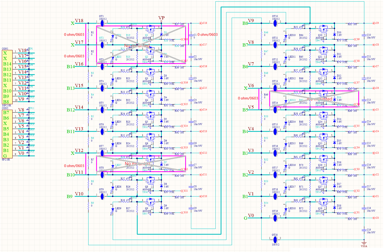 Cell Connecting Problem With Ltc6813 1 Qa Power By Linear Parallel Circuits The Cells Are Connected In All