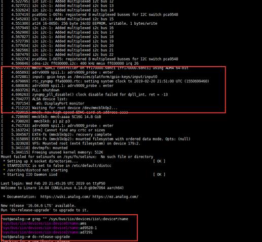 ERROE:LINUX ZCU102 ADRV9009 - Q&A - Design Support ADRV9008-1