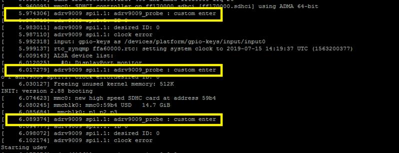 ZCU102 + ADRV9009 - fails during adrv9009_probe - Q&A